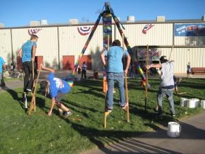 Stilt walking party at the Washington County Fair near St George, UT