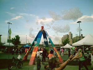 Solar Powered Bubble Tower Denver Skateboard Park