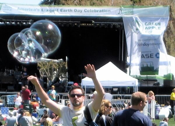 Yea!  More bubble fun at the Green Apple Music Festival in Denver, CO 2008.