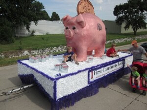 First Community Bank's float for the parade