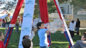 NV Energy sponsors the BubbleYou® Bubble Tower -the world's biggest bubble toy !®