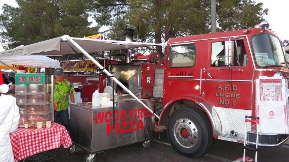 Wood fired pizza fire truck!