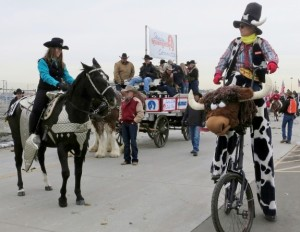 The Greeley Stampede Committee prepares to step off on parade!