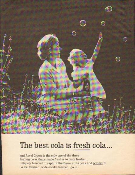 Royal Crown Cola ad: Fresh as a bubble!
