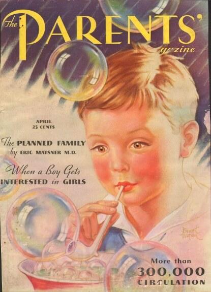 Parents Magazine: Bubbles as innocence.