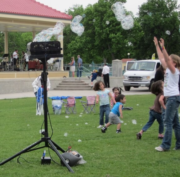 Mini Bubble Tower and Stilt Party