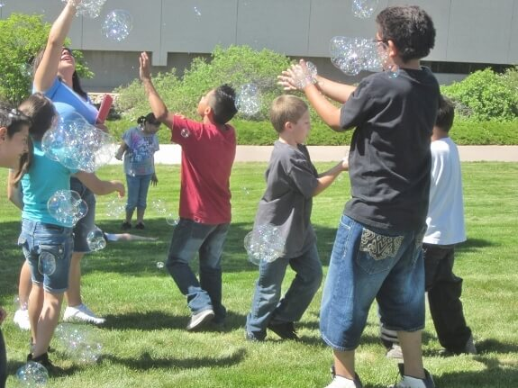 Bubbles at a school function in Pueblo, CO