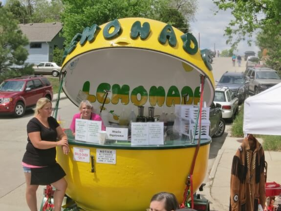 Main squeeze Lemon Aid Stand!  For your giant thirst, this giant lemon !  Not too tart, not too sweet, just right!