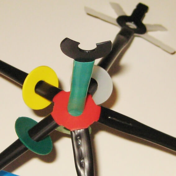 Use scissors to make an open connector.