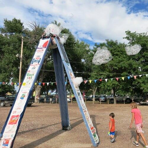 Flour Sack Bubble Tower