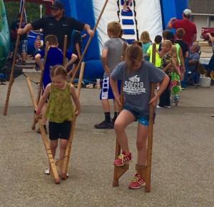 Walking Tall with Grandpa Stilts