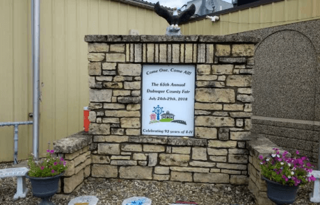 Dubuque County Fair entrance 2018