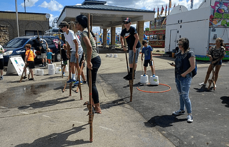 Stilts at the Dubuque County Fair 2018