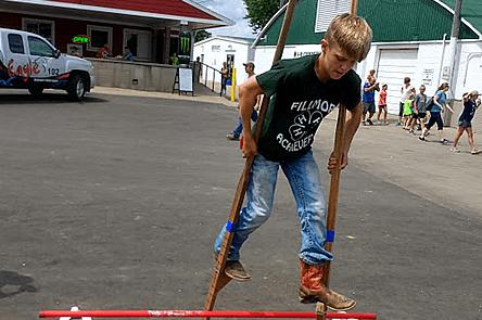Learning to Stilt Walk at the Dubuque County Fair 2018